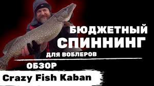 Новинка! Бюджетный спиннинг для воблеров: обзор <b>Crazy Fish</b> ...