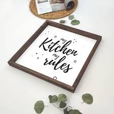<b>Декоративное панно</b> с надписью MY <b>KITCHEN</b> MY RULES ...