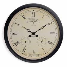 small bathroom clock: nextime wehlington weather station clock small wall clock