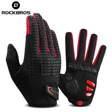 ROCKBROS Touch Screen Men <b>Cycling Gloves</b> Autumn Winter ...