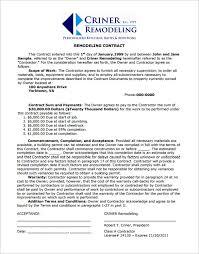 bathroom remodel contract