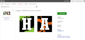 halloween templates and printables for microsoft office