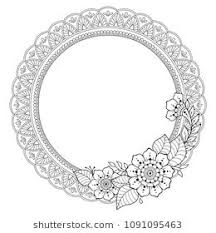 Circular pattern in form of mandala for Henna, Mehndi, tattoo ...