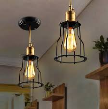 creative vintage industrial pendant light edison pendant light iron staircase aisle ceiling edison industrial lamps application lamps staircase