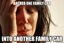 Image result for mom backing into a car gif