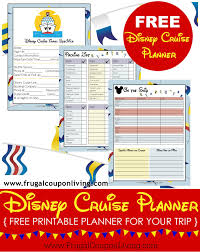 cruise packing list printable disney cruise planner printable header frugal coupon