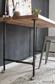 diy piping table house by hoff build rustic office desk
