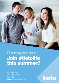 tieto s summer job application period starts ayy tieto s summer job application period starts