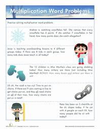 Multiplication Word Problems   Worksheet   Education.comThird Grade Multiplication Worksheets: Multiplication Word Problems