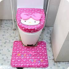 roses printing bathroom pcs set mats