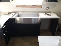 flush mount kitchen sink