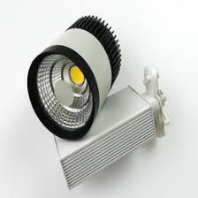 30w led track light lamp 85 265v warm cold white blackwhite shell for lighting art gallery exhibition lights art track lighting