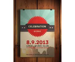 celebration flyer psd template retro flat modern design celebration flyer template psd