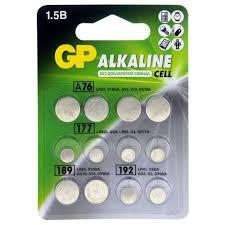 Купить <b>Батарейка GP Набор</b> Alkaline Cell LR44, LR41, LR626 ...