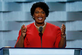 ajc live at the dnc shirley franklin presents party platform george house minority leader stacey abrams speaks during the first day of the democratic national convention