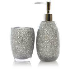 Silver Bedroom Accessories Silver Sparkle Bathroom Accessories