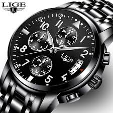 <b>relogio masculino LIGE Mens</b> Watches Top Brand Luxury Fashion ...