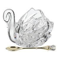 «Икорница <b>LEFARD Muza Crystal</b>, 11х7х8,5 см, с ложкой, стекло ...