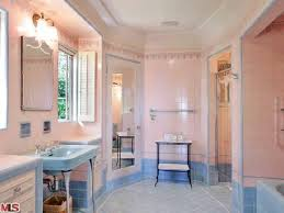 Plain Blue And Pink Bathroom Designs This Art Deco Looks Original With The For Design