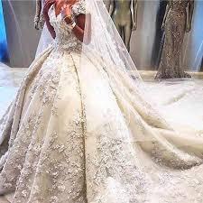 Luxury Sequined Star Lace Wedding Dress 2019 <b>Vintage</b> ...