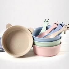 <b>Wheat Straw</b> Baby Feeding Food Bowl <b>Tableware Cartoon</b> Panda ...