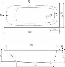 Акриловая ванна <b>Cezares</b> Eco 150x70 см в интернет-магазине ...