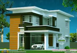 Flat Roof Contemporary House Plans Design Flat Roof Home Storey    design
