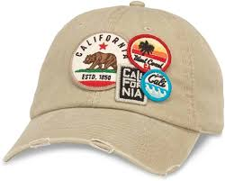 American Needle Iconic Patch Distressed <b>Dad Hat</b> California ...