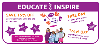 griffon weekly students several promotions for enrolling in our daycare in addition to the complimentary family ymca membership we are also offering for a limited time