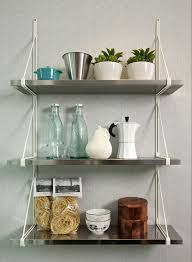Kitchen Racks Stainless Steel Wall Mounted Stainless Steel Kitchen Shelf For Microwave Decofurnish