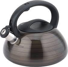 <b>Чайник Agness</b>, со свистком, 907-024, черный, <b>3 л</b> — купить в ...