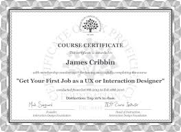 james cribbin course certificate get your first job as a ux or james cribbin course certificate get your first job as a ux or interaction designer