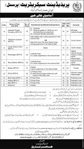 secretariat islamabad jobs 2016 telephone operator clerk naib president secretariat islamabad jobs 2016 telephone operator clerk naib qasid application form