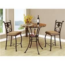 three piece dining set: acme furniture kleef  piece counter height dining set