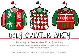 ugly christmas sweater party invites cimvitation ugly christmas sweater party invites to make your mesmerizing party invitations more elegant 15
