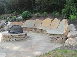 stone patio installation: examples of our natural flagstone patio projects