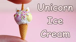 Miniature <b>Unicorn</b> Ice Cream. Tutorial. <b>DIY</b>. Polymer clay ...