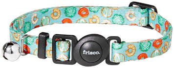 Frisco <b>Doughnut Polyester</b> Breakaway Cat Collar with Bell, 8 to 12 ...