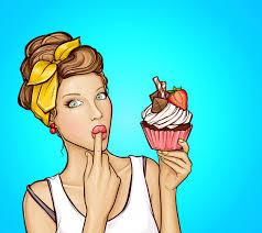 Free Vector | Pop art <b>sexy girl</b> with sweet cupcake