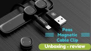 <b>Cable Clip</b> line fixer Organiser // <b>BASEUS</b> - YouTube