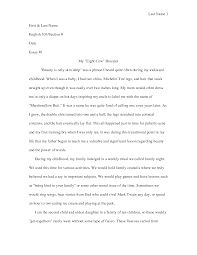 essay sample for high school