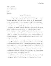 essay sample for high school