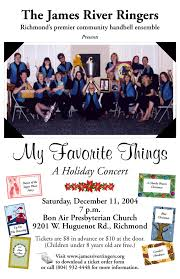 james river ringers fliers jrr s past concert fliers these were hand crafted by some very talented artists some of whom are counted amongst jrr members