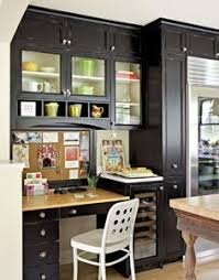 kitchen office for the home built office desk ideas
