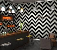 beibehang Nordic black white striped wavy wallpaper modern ...