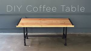 diy pipe coffee table youtube black iron pipe table