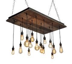reclaimed wood chandelier edison bulb pendants bare bulb pendant chandelier barnwood lighting chandelier barn board