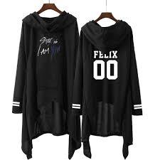 Kpop Blackpink 2019 Spring <b>Women Black Hooded</b> Sweatshirt <b>Long</b> ...