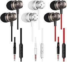 Earphones 3 Pack in-Ear Headphones with ... - Amazon.com