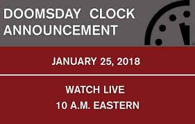<b>Watch</b> the <b>2018</b> Doomsday <b>Clock</b> Announcement - Bulletin of the ...